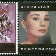 GIBRALTAR - 1995: shows Audrey Hepburn (1929-1993), actress — Stock Photo #14108211