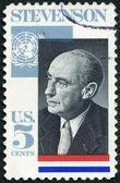 USA - 1965: shows Adlai E. Stevenson II (1900-1965), Governor of Illinois, US Ambassador to the UN, 1961-65 — Stock Photo