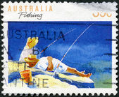 AUSTRALIA - 1989: shows Fishing, series Sports — Foto Stock