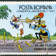 ROMANIA - 1986: shows Donald and trombonist, Walt Disney characters in the Band Concert, 1935 - Stock Photo