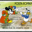 Stock Photo: ROMANI- 1986: shows Mickey and Donald, Walt Disney characters in Band Concert, 1935