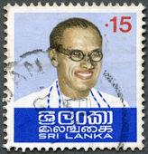 SRI LANKA - 1974: shows S.W.R.D. Bandaranaike (1899-1959) — Foto Stock