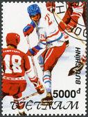 VIETNAM - 1991: shows Hockey, 1992 Winter Olympics, Albertville — Foto Stock