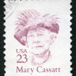 US- 1988: shows Mary Stevenson Cassatt (1844-1926), Americpainter and printmaker, series Great Americans — Stock Photo #15658501
