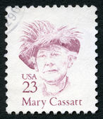USA - 1988: shows Mary Stevenson Cassatt (1844-1926), American painter and printmaker, series Great Americans — Stock Photo