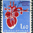 CZECHOSLOVAKIA - 1964: shows Human Heart, 4th European Cardiological Congress at Prague — Stock Photo