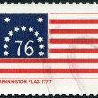 USA - 1968: shows Bennington flag, 1777 - Stock Photo