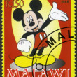 MALAWI - 2008: shows Mickey Mouse - 图库照片