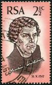 SOUTH AFRICA - 1967: shows Martin Luther (1483-1546), 450th anniversary of the Reformation — Stock Photo