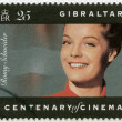 GIBRALTAR - 1995: shows Romy Schneider (1938-1982), actress — Lizenzfreies Foto