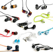 Earphones collection — Stock Photo
