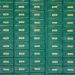 Green post boxes at post office — Stock Photo