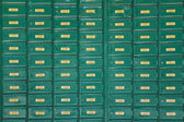 Green post boxes at post office — Zdjęcie stockowe