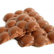 Porous chocolate pieces — Stock Photo