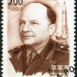 Stock Photo: RUSSI- 2004: shows Birth Centenary of N.L. Dukhov (1904-1964), designer