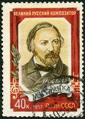 Zsrr - 1957: pokazuje michaił iwanowicz glinka (1804-1857), kompozytor — Zdjęcie stockowe
