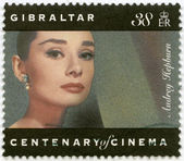 GIBRALTAR - 1995: shows Audrey Hepburn (1929-1993), actress — Foto Stock