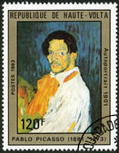 UPPER VOLTA - 1983: shows Self-portrait, by Pablo Picasso, 1901 — Stock Photo