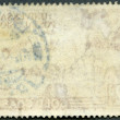 The reverse side of a postage stamp — Stock Photo #16990235