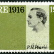 IRELAND (EIRE) - 1966: shows Patrick Henry Pearse (1879-1916), 50th anniversary of the Easter Week Rebellion, and to honor the signers of the Proclamation of the Irish Republic — Foto de Stock