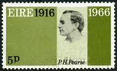 IRELAND (EIRE) - 1966: shows Patrick Henry Pearse (1879-1916), 50th anniversary of the Easter Week Rebellion, and to honor the signers of the Proclamation of the Irish Republic — Stok fotoğraf