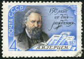 USSR - 1962: shows portrait of Aleksander Ivanovich Herzen (1812-1870), Political Writer, 150th Birth Anniversary of A.I. Herzen — Stock Photo