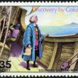 MONTSERRAT - 1973: shows image of the Christopher Columbus aboard ship sighting Montserrat, devoted 480th anniversary of the discovery of Montserrat by Columbus — Stock Photo