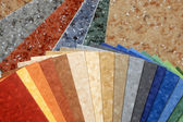 Collection natural linoleum — Stock Photo