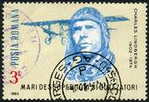 Rumänien - 1985: zeigt charles lindbergh, geist von st. louis — Stockfoto