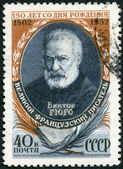 USSR - 1952: shows Victor Hugo (1802-1855), French Writer, 150th anniversary of Birth of Victor Hugo — Stock Photo