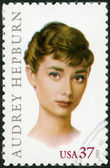 USA - 2003: shows Audrey Hepburn (1929-1993), Actress — Stock Photo