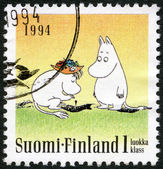 FINLAND - 1994: shows Moomin characters, Friendship, Two standing — Stock Photo