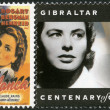 Stock Photo: GIBRALTAR - 1995: shows Ingrid Bergman (1915-1982), actress