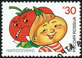RUSSIA - 1992: shows Signor Tomato and Cipollino, series Characters from Children's Books — Stock Photo