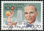 FINLAND - 1987: shows Arvo Ylppo (1887-1992), pediatrics pioneer, Child and Lastenlinna Children's Hospital — Stock Photo