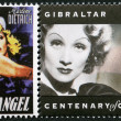 GIBRALTAR - 1995: shows Marlene Dietrich (1901-1992), actress and singer — Stock Photo