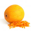 Orange with rind — Stock Photo