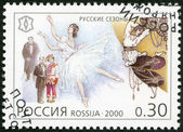 RUSSIA - 2000: shows Tours of Russian ballet and opera companies, 1908-1914, The Russian Seasons, series National Cultural Milestones in the 20th Century — Stock Photo
