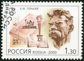 RUSSIA - 2000: shows Maxim Gorky (1868-1936), writer, series National Cultural Milestones in the 20th Century — Stock Photo