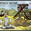 SIERRA LEONE - 1990: shows Mickey Mouse, Bauxite mine, Walt Disney Characters — Stock Photo