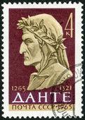 USSR - 1965: shows Dante Alighieri (1265-1321), Italian Poet — Stockfoto