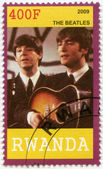 RWANDA - 2009: shows The Beatles, John Lennon and Paul McCartney — Stock Photo