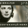 GIBRALTAR - 1995: shows Ingrid Bergman (1915-1982), actress - Stock Photo
