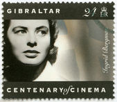 Gibraltar - 1995: toont ingrid bergman (1915-1982), actrice — Stockfoto