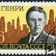 USSR - 1962: shows O. Henry and New York Skyline (William Sidney - Stock Photo