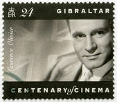 GIBRALTAR - 1995: shows Laurence Olivier (1907-1989), actor, dir — Stock Photo
