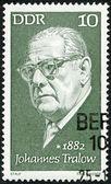 GERMANY - 1972: shows JJohannes Tralow (1882-1968), playwright — Stock Photo