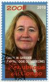 CONGO - 2010: shows Carol W. Greider, series Nobel Prize winners — Stock Photo