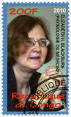 CONGO - 2010: shows Elizabeth Helen Blackburn, series Nobel Prize winners — Stockfoto