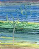 детский маслом абстрактный цветок — Стоковое фото